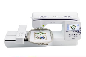 "85461: Brother Demo NQ1600E 6.25x10.25"" Embroidery Machine, Jump Stitch Cutting, Larger Color LCD Screen, +"