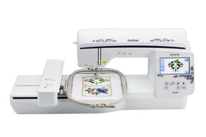 84464: Brother Brand New in Box NQ1600E 6.25x10.2 Embroidery Machine, Auto Jump Stitch Cutting, Bonus 24 Cone