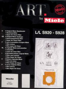 Miele 05852650 ART Style L Upright Vacuum Cleaner 5 Bags & Filters for Mojito, Hot Chocolate & Red Roses Models