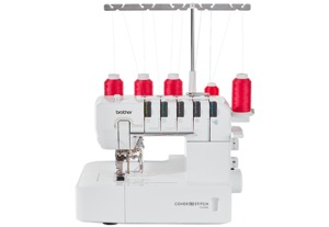 Brother CV3550 Double Sided Top and/or Bottom Cover Hem Stitch Machine, Narrow Freearm, 6.1x3.9in Workspace, 7 Stitches, Differential Feed, No Knives,cover stich
