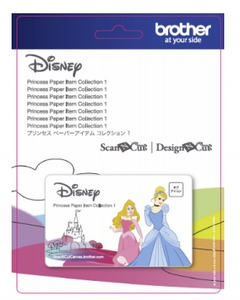 84506: Brother CADSNP02 Disney Princess 18 Designs Paper Craft Pattern Collection #1 for Scan N Cut Canvas