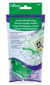 Clover CL3186 Jumbo Wonder Clips 12pcs by Nancy Zieman