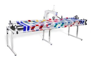 "Grace, Qnique21, Long, arm, Machine, Stitch, Regulation, Laser, Stylus, Continuum, Quilting, Frame, Grace Qnique 21"" Longarm Quilting Machine +Continuum 8' Metal Frame"