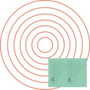 "80709: Westalee WT-COQ-SET2: 2 1/12"" - 1 1/12"" Circles on Quilts 2 Piece Templates Set"