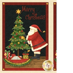 84395: Wilmington Prints 67555 973 Santa's Big Night Fabric Panel