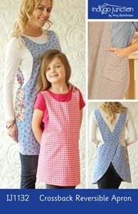 Indygo Junction IJ1132 Crossback Reversible Apron Sewing Pattern