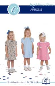 Children's Corner CC015S CC015L Aprons Carol and Jenni Sewing Pattern Sizes 6mo-18mo and 2-4