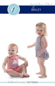 85014: Children's Corner CC294 Bailey Romper Sewing Pattern Sz 3mo-24mo