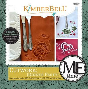 KimberBell Designs KD639 Cutwork Dinner Party