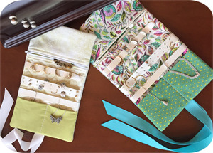 84820: Embroidery Garden EGJWRL Jewelry Roll Set In the Hoop Embroidery CD and Instructions