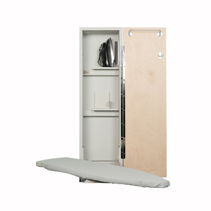"""IRON-A-WAY ANE-42 Non Electric 42"""" Wall Mount Ironing Board, Hinged Door"""