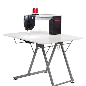 "Bernina Q20"" Free Motion Quilting Machine with Sit Down Folding Table, BSR Dual Stitch Regulators, 2200SPM, Threader, Darning Foot #9, Swiss Made"