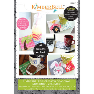 79291: KimberBell Designs KD517 Holiday & Seasonal Mug Rugs Volume 2 ME CD Pattern