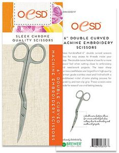 "85786: OESD747 6"" Double Curved Machine Embroidery, Applique and Thread Scissors"
