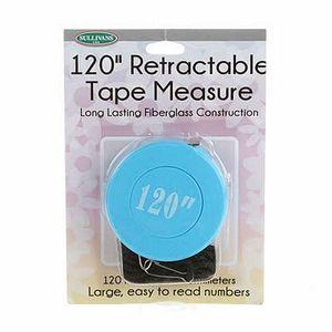 """Sullivans 120"""" Blue Retractable Tape Measure"""