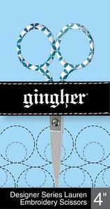 "85899: Gingher Lauren F220272 - 4"" Designer Embroidery Scissors"
