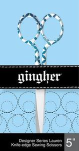 """86004: Gingher F220582 Lauren - 5"""" Designer Embroidery Scissors"""
