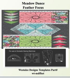 86010: Westalee WT-MDFFSET MEADOW DANCE FEATHER FOCUS TEMPLATE SET