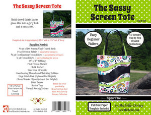 Sew Michelle SM128, Sassy Screen Tote Bag Sewing Pattern by Michelle Dorsey