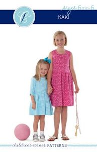 Children's Corner CC295S CC295L Kaki Bodice Dress Sewing Pattern Sizes 6m-6 and 7-14