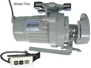 66860: Consew Clutch Motors, 1/2-3/4HP 110V-220VAC 1725-3450RPM P17 P20 P2 o rP24 for Industrial Sewing Machine Tables(Compare to Variable Speed Servo Motors