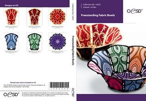 OESD 12625CD, Fabric Bowls FSL CD Ideas and Instructions