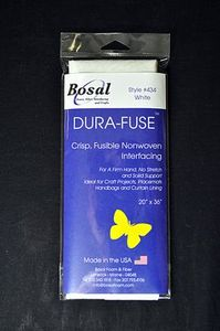 """Bosal BOS434 Non-woven All-Purpose Dura Fuse White 100% Polyester 20"""" x 1 Yard Package. Fusible nonwoven, craft-weight."""