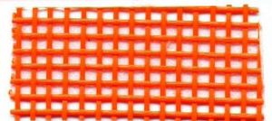 Lyle Enterprises VMR-84 36in Wide Vinyl Coated Mesh Orange, 5Yd Roll