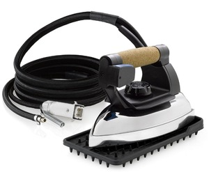 87183: Reliable 2150IR Commercial Steam Iron Head with Extra X-Long 11.5' Hose