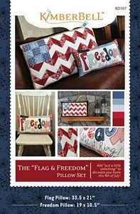 52680: KimberBell Designs KD107 The Flag and Freedom Pillow Set Pattern
