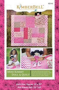 52696: KimberBell Designs KD145 Mini Kimmy Doll and Quilt Pattern