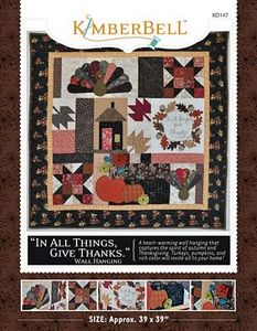 52711: KimberBell Designs KD147 In All Things, Give Thanks Pattern