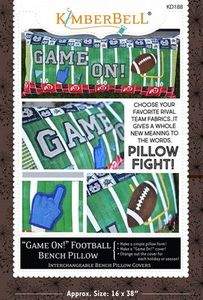 87480: Kimberbell KD188 Game On! Football Pillow Sewing Version