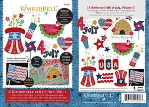 52717: KimberBell Designs KD506 Kimberbell 4th of July Vol. I Digital Embroidery Designs