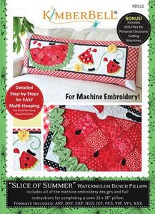 87489: KimberBell KD522 Slice of Summer Watermelon - Bench Pillow (ME)
