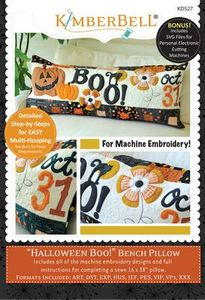 87493: Kimberbell KD527 Halloween Boo! Bench Pillow (Machine Embroidery)