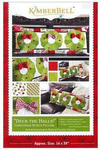 87495: KimberBell KD529 Deck The Halls Bench Pillow