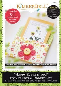 87502: KimberBell KD541 Happy Everything! Pocket Tags & Banners