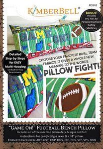 87513: KimberBell KD548 Game On! Football Bench Pillow