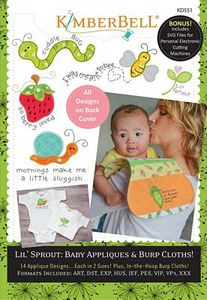 87514: KimberBell KD551 Lil Sprout - Baby Appliques & Burp Cloths