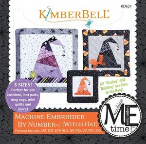 87575: KimberBell KD631 Witch Hat - Machine Embroider by Number