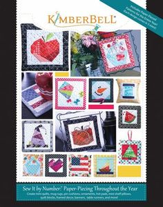 87579: KimberBell KD712 Paper-Piecing Through the Year-Sew It by Number Book