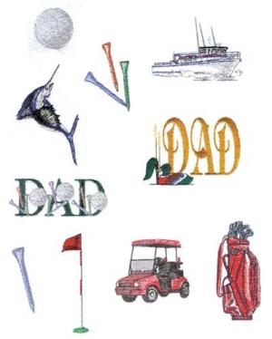 Balboa Threadworks 64X Father's Day 3 4x4 Embroidery Disks