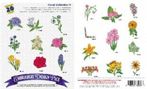 Amazing Designs 1114 Floral V Embroidery Disk