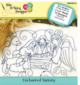 Sue O'Very Designs SWASD33 Enchanted Nativity Design