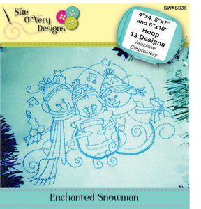 Sue O'Very Designs SWASD36 Enchanted Snowman Design