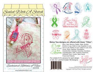 Sue O'Very Designs SWASD48 Enchanted Ribbons of Hope Designs