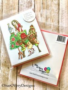 Sue O'Very Designs SWASM01 Sew Christmas Note Card - 8pk