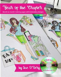 Sue O'Very Designs Year of the Sewer Coloring Book and Design CD