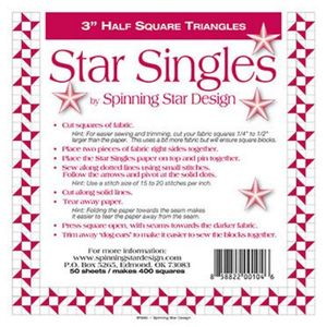 Spinning Star Design - Star Singles 3.0in